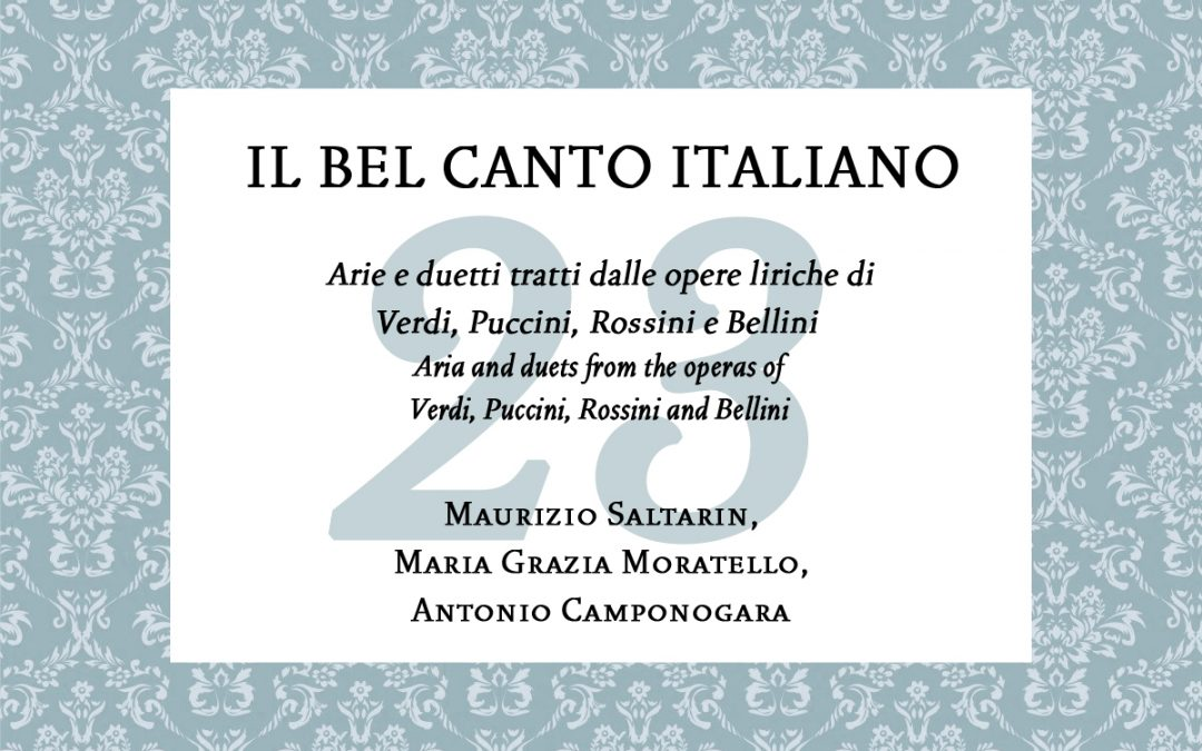Il Bel Canto italiano – Concert for The Colors of Music in the World