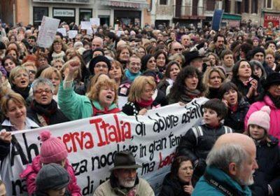 """""""manifestazione 13 febbraio se non ora quando"""""""