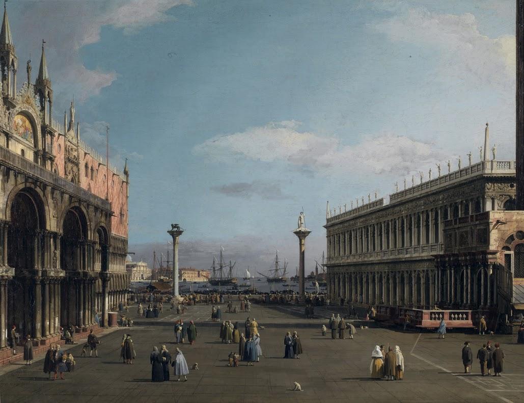 Antonio Canal, detto Canaletto (Venezia, 1697-1768 Venezia, veduta di piazza San Marco con le Procuratie, 1733-1735 Olio su tela Roma, Galleria Nazionale d'Arte Antica di Palazzo Barberini, inv. 1005 (F.N. 303)
